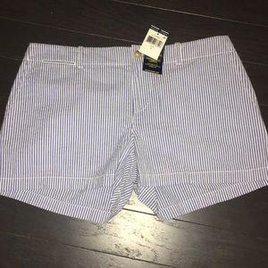 NWT blue striped shorts